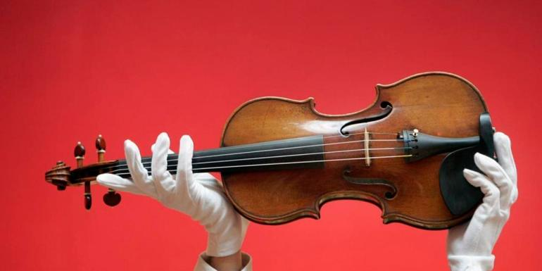 UK - Christie's Auction - Stradivari Violin